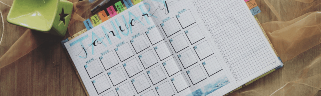 Monthly Planner Open To January