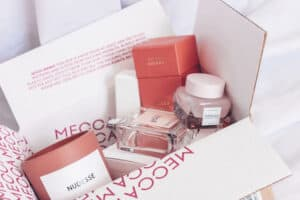 Pink Beauty Product Packaging