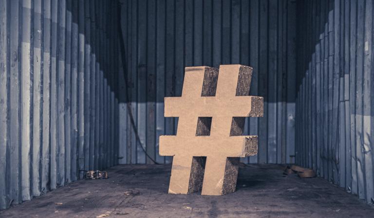 3D social media Instagram hashtag