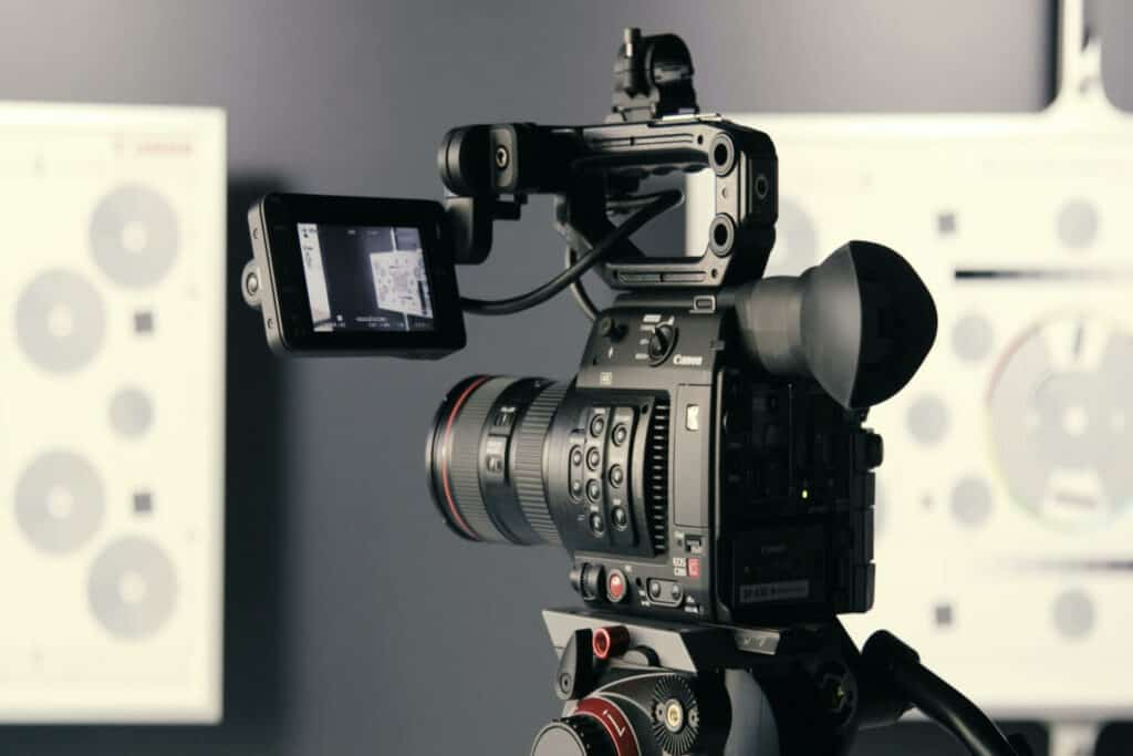 Image of video camera used for creating marketing videos