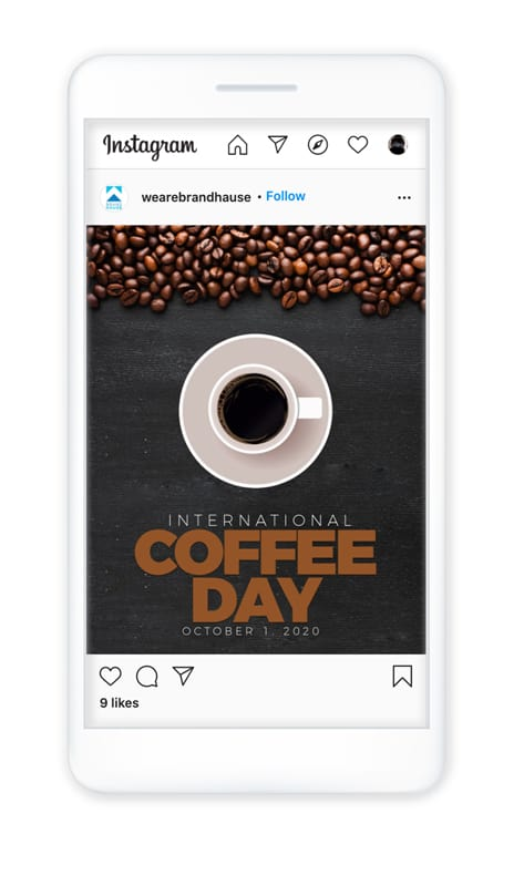 Example of Instagram holiday post