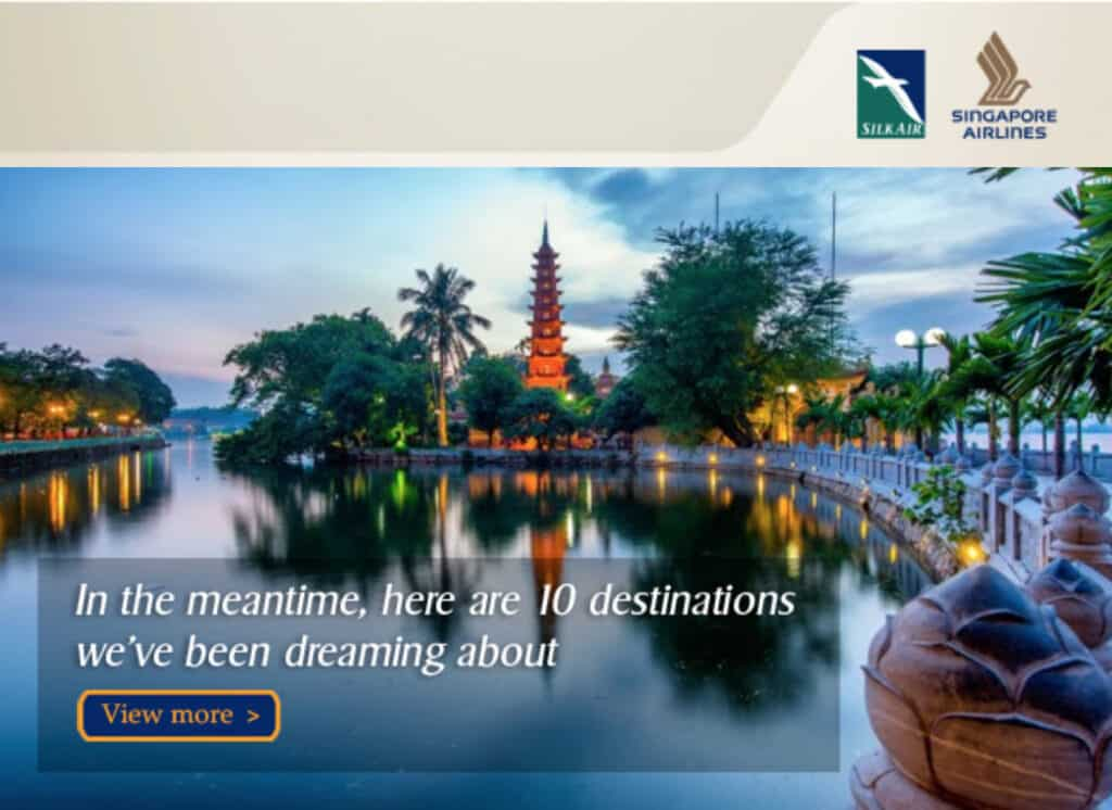 Example of email campaign design.