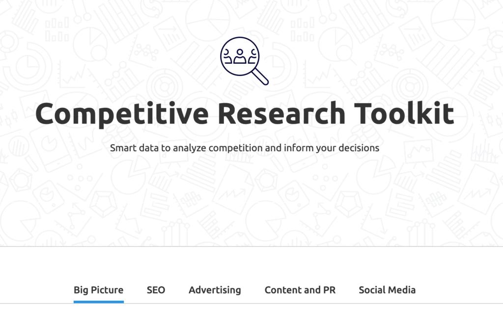 SEMrush competitor analysis toolkit