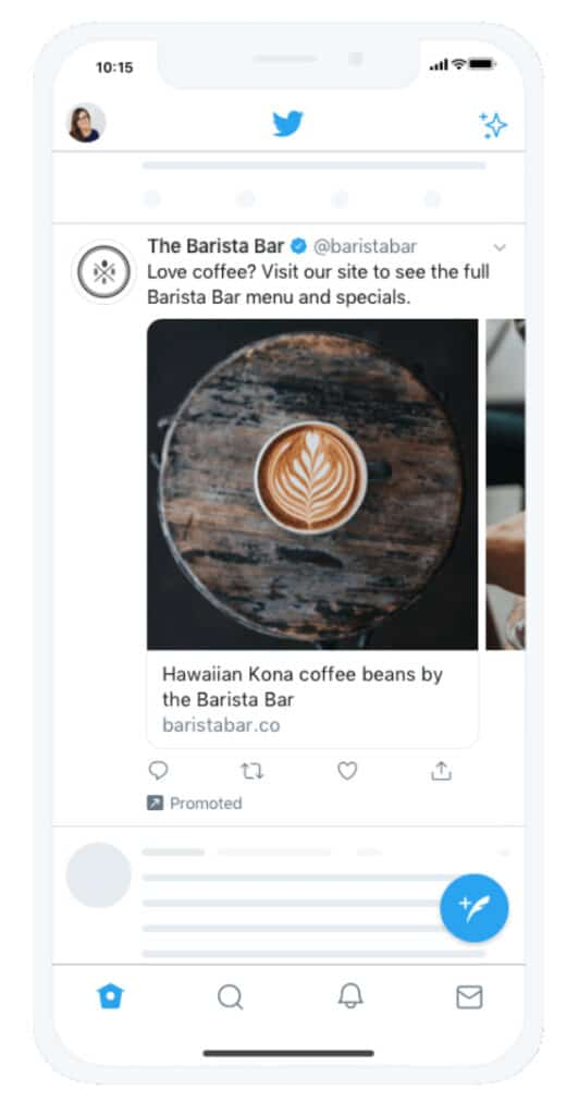 example of a twitter business advertisement