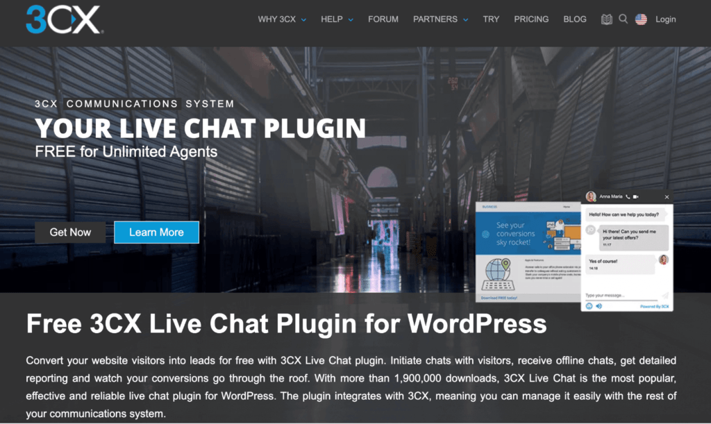 WP Live Chat Plugin Website Landing Page
