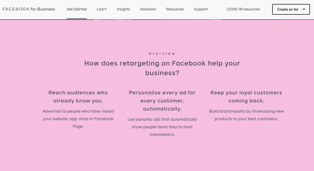 Facebook Ads Retargeting Campaign Landing Page