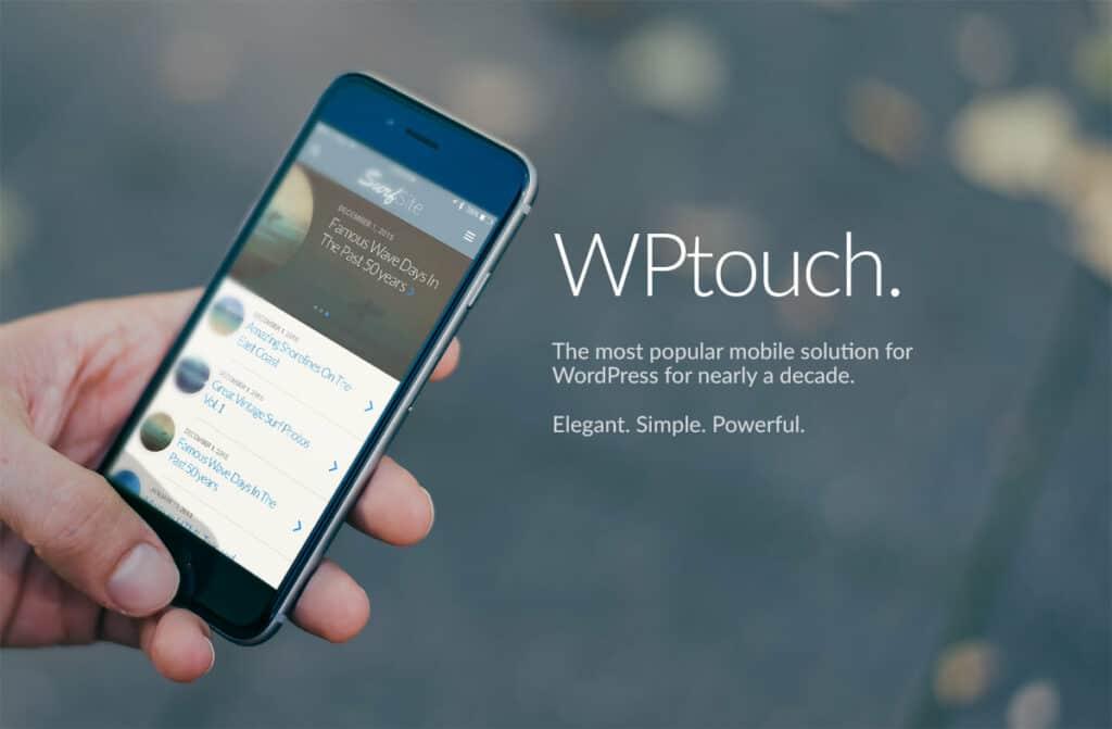 WordPress WPtouch landing page